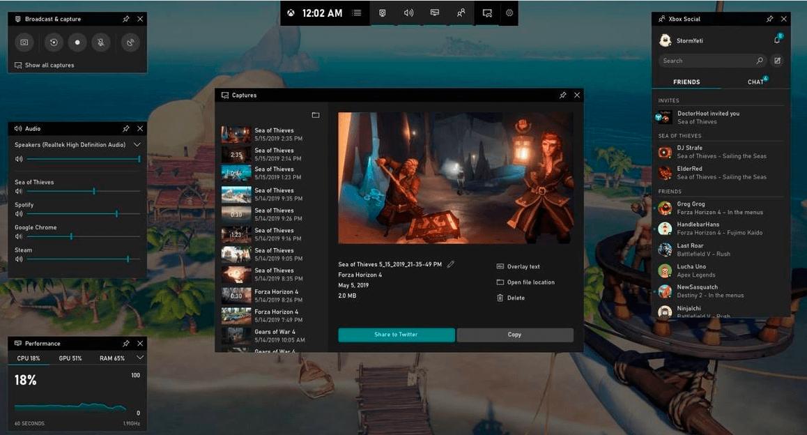 take screenshot using game bar on windows