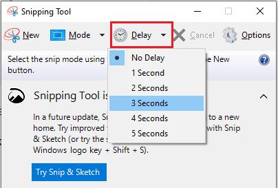 set delay time