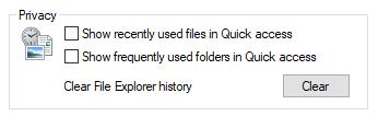 quick access folders