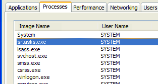 What is srtasks.exe and what is it used for?