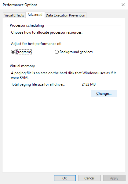 Adjust programs