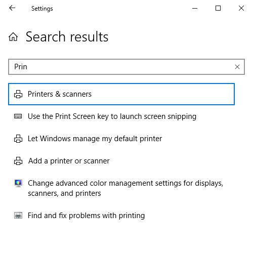 Remove/delete printer