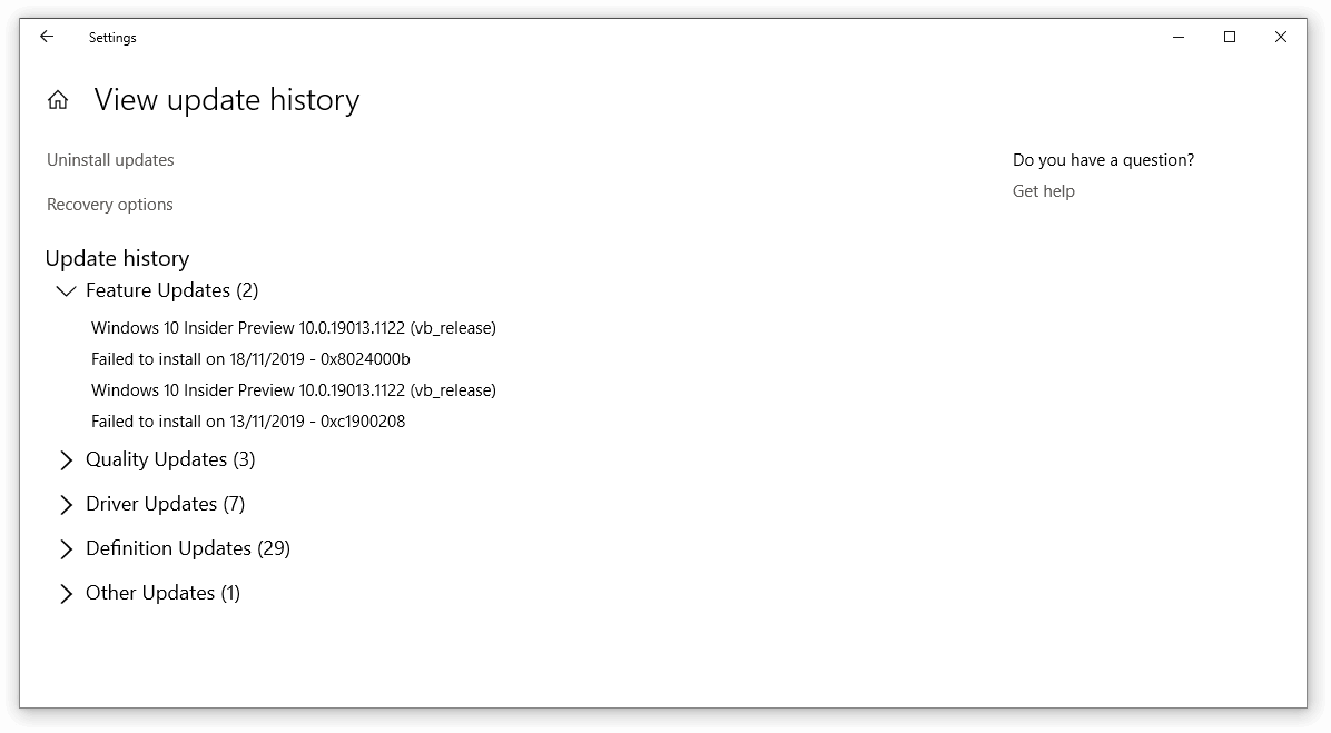 Windows 10 recovery file
