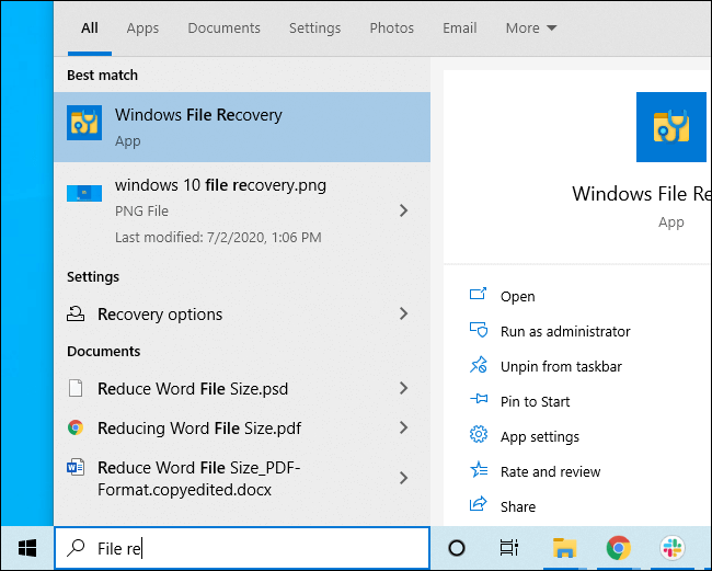 how to install windows recovery tool