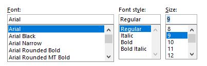 Choose Font Family