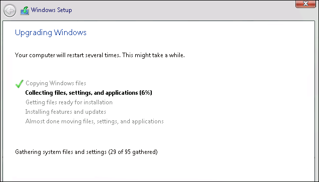 Upgrading windows screen