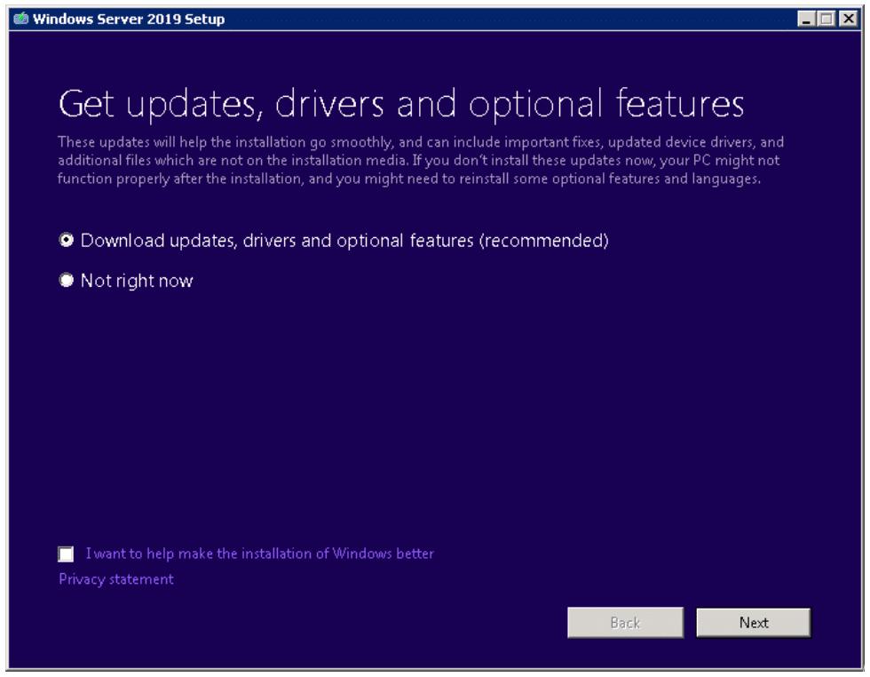 How to upgrade to windows server 2019