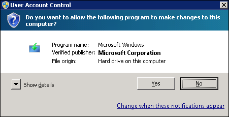 To start process select yes