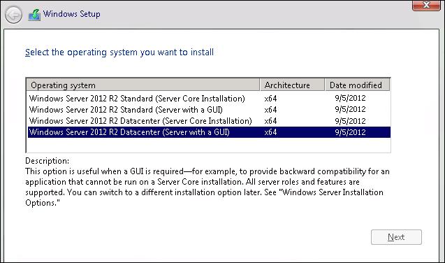 How to install server 2012