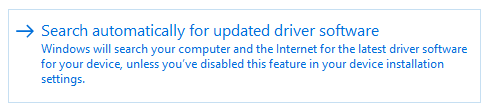 drivers search automatically