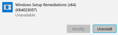 Windows remediation bit version
