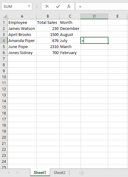 reference a cell in excel from another sheet