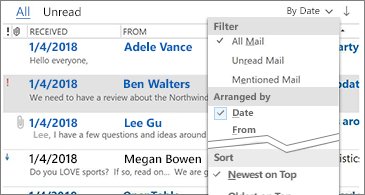 Outlook: Email Sorting