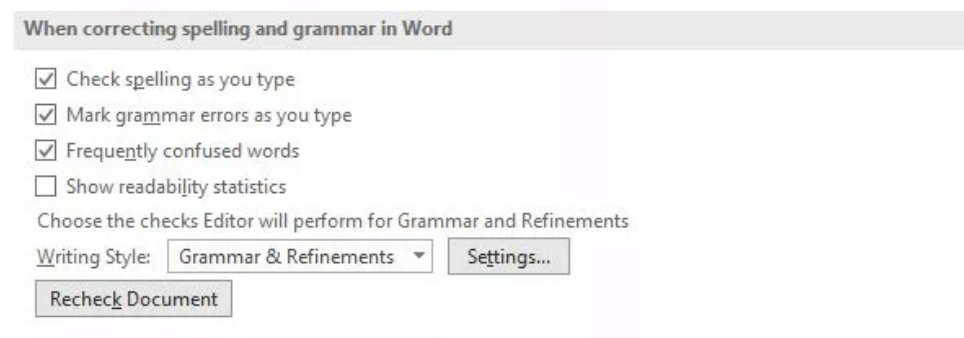 check spelling as you type