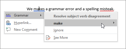 How to check for spelling and grammar in Word