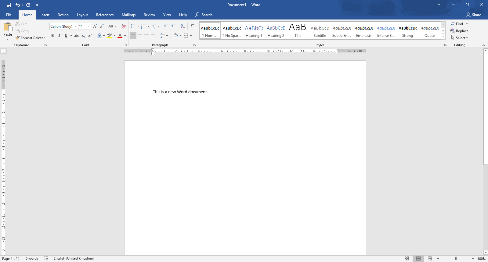 Hoe to start a word document