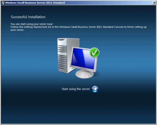 Windows server installed succesfully