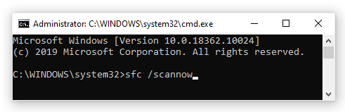 sfc/scannow command