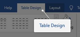 How to customize a table in word