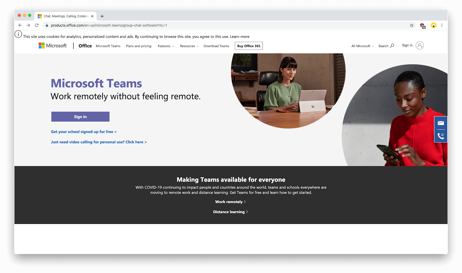 Teams web app