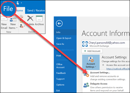 How to remove and add account on Outlook