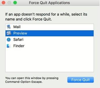 Force quit windows