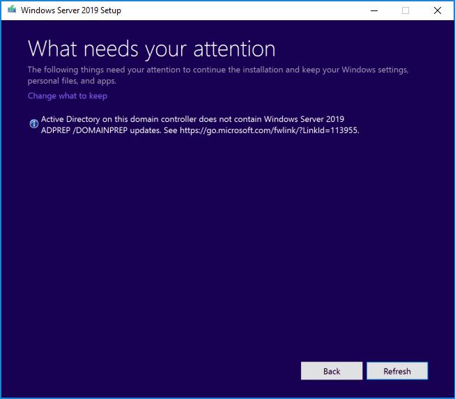 Windows server 2019 setup