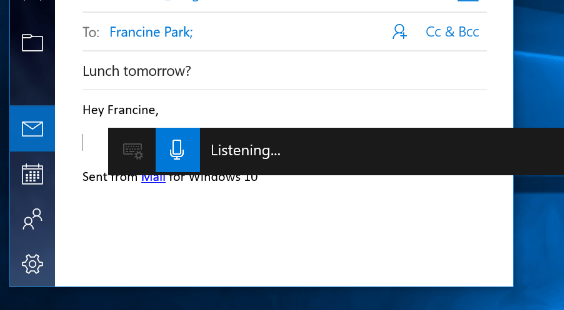 voice typing on windows 10