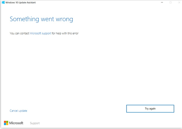 windows  update failing error