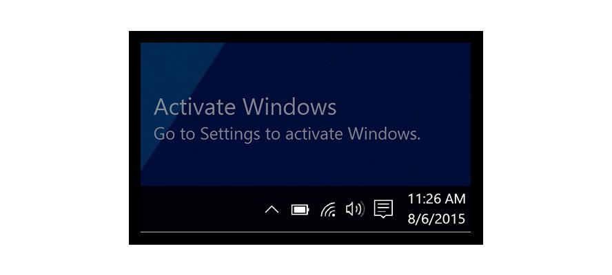 watermark on Windows 10.