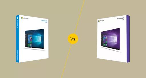 windows 10 home vs. Windows 10 pro
