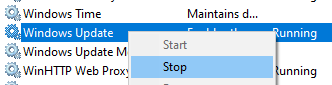 how to stop windows update