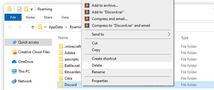 discord folder