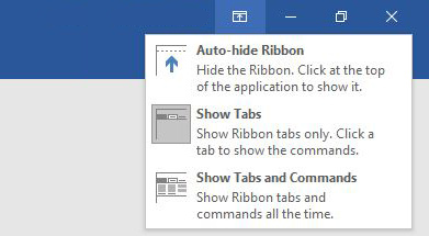 How to hide ribbon in word