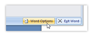 Word options
