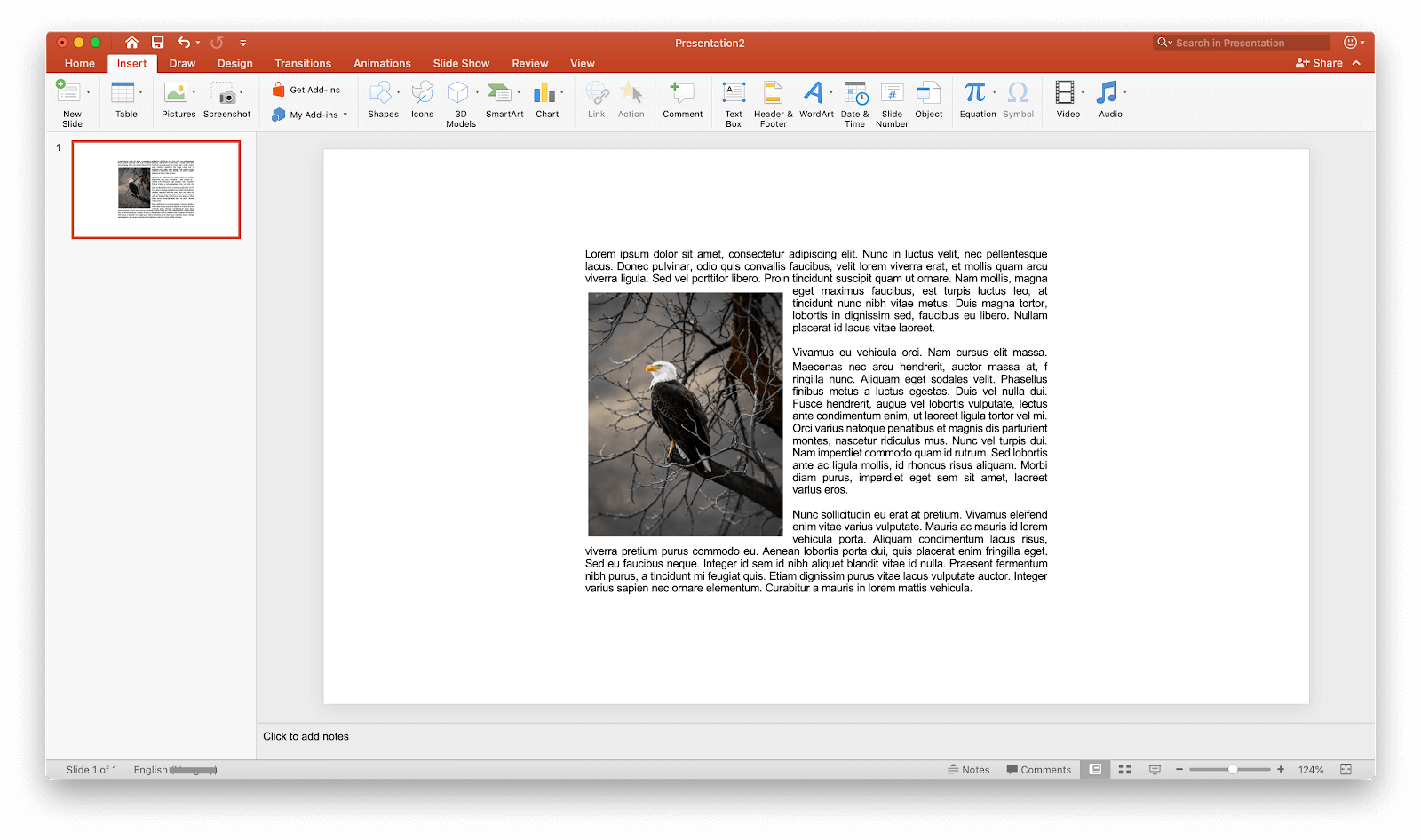 how to wrap a text in powerPoint
