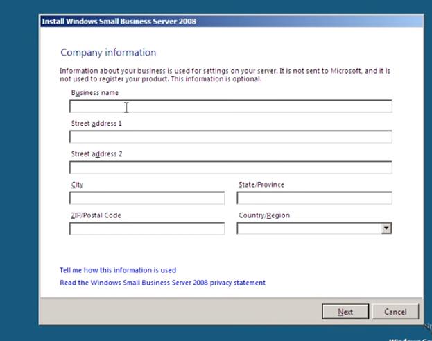 Creating SBS internal domains