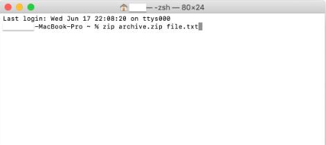 create .zip files using terminal